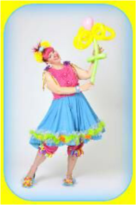 Girl Clown, Dallas clown, cute girl clown, clown show Dallas, Irving, Arlington, Fort Worth, Richardson, Plano, Grapevine, Garland, Allen, Texas, Frisco clown, Flower Mound clown, Lewisville, Carrollton clown, balloon twisting, magic clown, magic show, party clown face painting