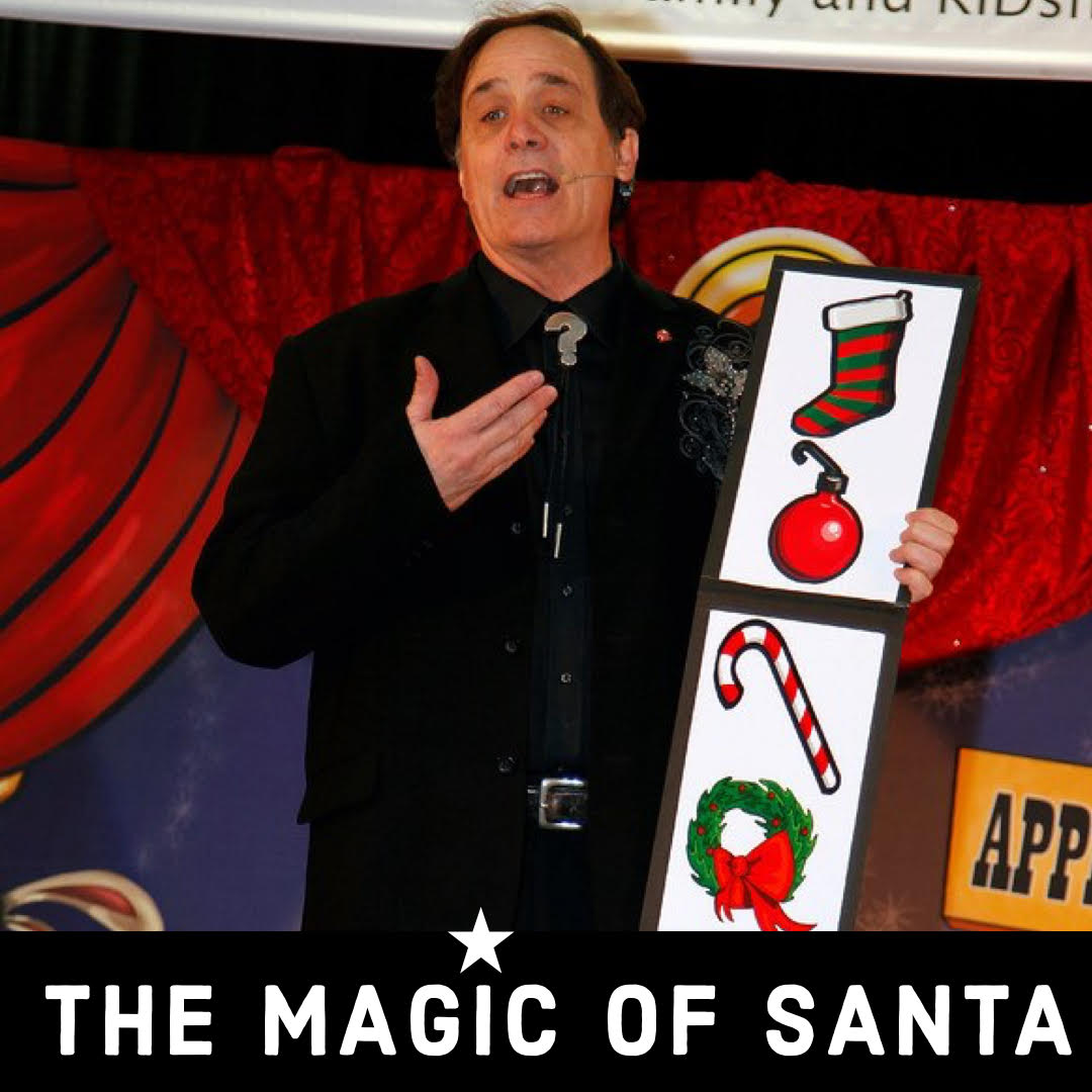 virtual birthday show, virtual magic show, virtual Christmas card, online Christmas show, Christmas magic show