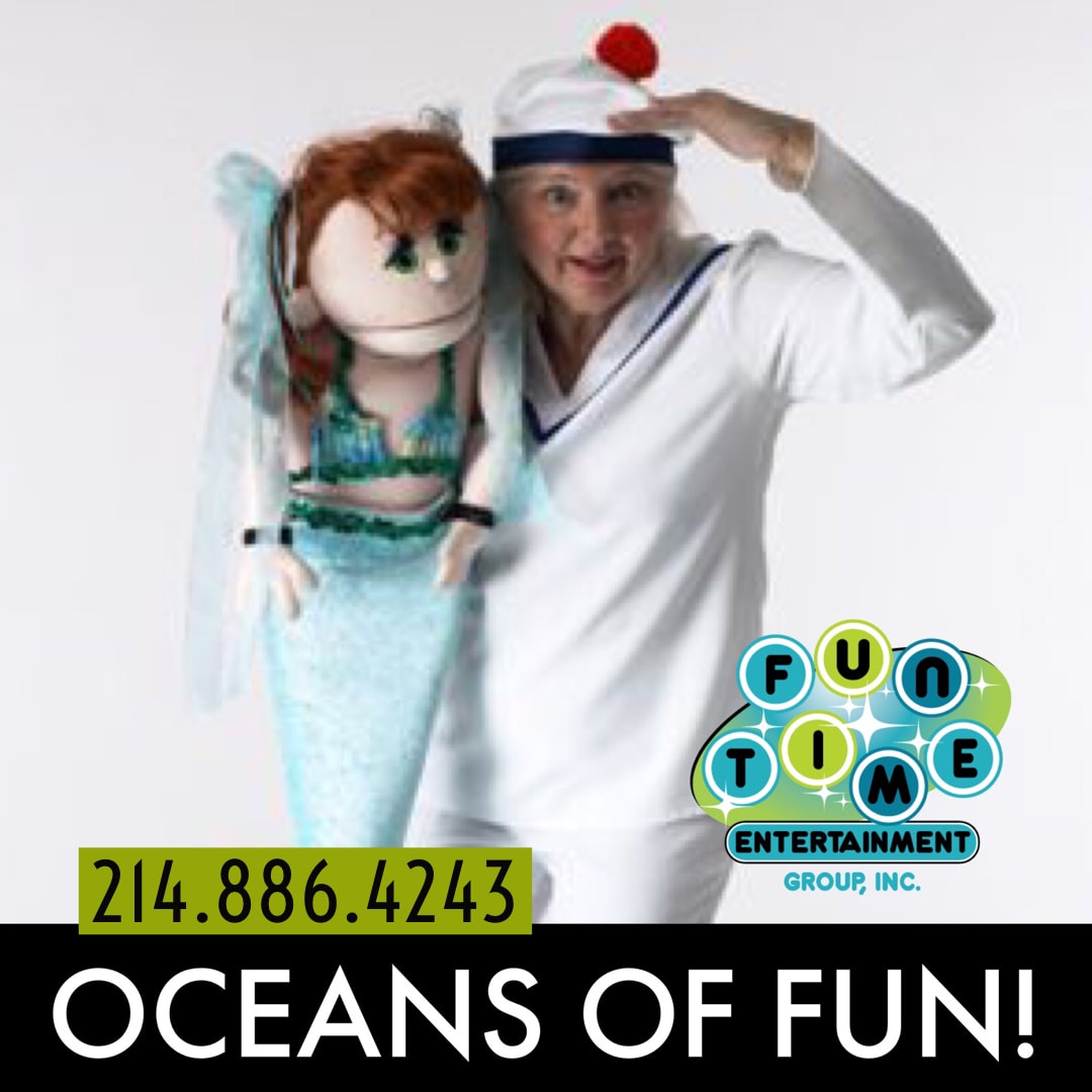 kids show dallas, mermaid show, dallas, puppet show, birthday show for kids, day care show, ocean show,