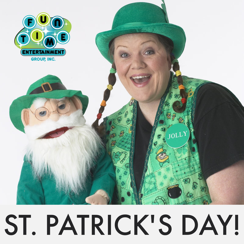 virtual St Patrick;s Day, virtual kids show, online party,  virtual daycare show, virtual school shows, online school show, online show for kids, zoom party ideas